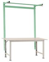 Stahl-Aufbauportale mit Ausleger für PACKPOOL Spezial/Ergo Resedagrün RAL 6011 / 2000