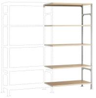 Leichte Fachboden Anbauregale PLANAFIX Standard mit Holzböden, beidseitige Nutzung 500 / 2000