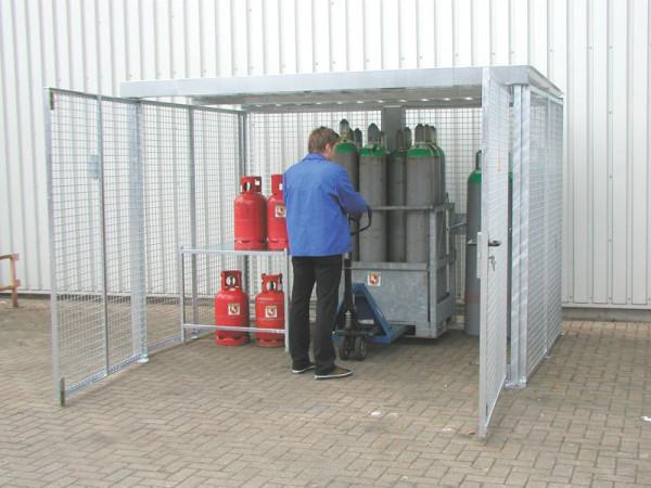 Doppelflügeltüre für Gasflaschen-Container