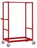 Leichter Grundrahmen für Etagenwagen Varimobil, Höhe 1650 mm Rubinrot RAL 3003 / 1000 x 700