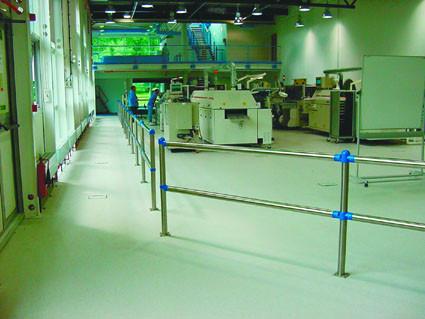 System-Sicherheitsgeländer mit Bodenplatte