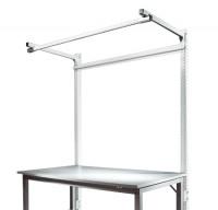 Stahl-Aufbauportale mit Ausleger Grundeinheit Spezial/Ergo Lichtgrau RAL 7035 / 1000