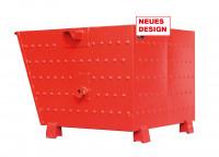 """Kippbehälter für Traverse """"neues Design"""" Feuerrot RAL 3000 / 0.7"""