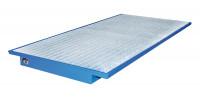 Palettenregal-Einhängewanne, LxBxH 2150 x 1250 x 140 mm Lichtblau RAL 5012