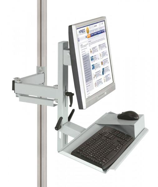 Ergo-Monitorträger mit Tastatur- und Mausfläche