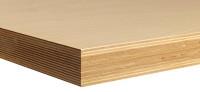 Werkbankplatte Multiplex 40 mm,HxBxT 40xx2000x600 mm natur 1500
