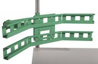 Gebogenes Boxenträger-Element für CANTOLAB & ALU Einfachträger / Resedagrün RAL 6011