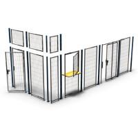 Zweiflügelige Tür für Trennwand-System Basic 2480