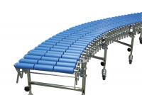 Scheren-Rollenbahnen mit Kunststoffrollen 4500 - 9600 / 600