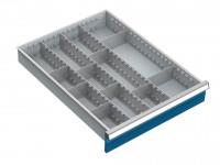 Trennwandset für Schubfachschränke MAXTEC, 3 Längstrennwände 555 / 50
