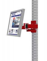 Monitorträger für MULTIPLAN / PROFIPLAN, Doppelgelenk 500 mm Rubinrot RAL 3003 / 100