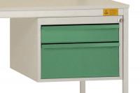 Schubfach-Unterbauten UNIDESK leitfähig, 1x50, 1x100, 1x150 mm Resedagrün RAL 6011