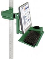 Standard-Monitorträger mit Tastaturträger und Mausfläche für MULTIPLAN / PROFIPLAN 100 / Resedagrün RAL 6011