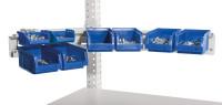 Cockpit Boxenträger-Element mit Einfach oder Doppelträger für MULTIPLAN Arbeitstische Lichtgrau RAL 7035 / Einfachträger