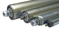 verzinkte Stahl-Tragrollen, Achsausführung: Feder 300 / 30 x 1,5