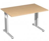 Oxford Schreibtisch, Höhenverstellung 680 -820 mm 1800 / Lichtgrau