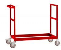 Leichter Grundrahmen für Etagenwagen Varimobil, HxB 950 x 500 mm Rubinrot RAL 3003 / 1250 x 500