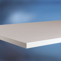 Arbeitstischplatte Linoleum nickelgrau 22 mm 3000 / 800