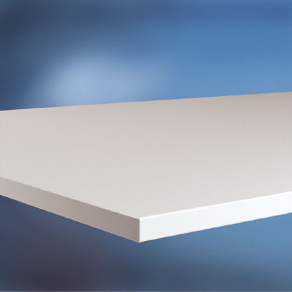 Arbeitstischplatte Melamin lichtgrau 22 mm
