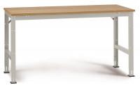 Grundarbeitstisch UNIVERSAL Standard, Multiplex 22 mm 1750 / 1200 / Resedagrün RAL 6011