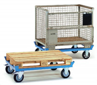 Paletten-Fahrgestelle, mit Elastic-Bereifung 652 / 1010 x 810