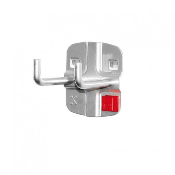 RasterPlan/ABAX Doppelter Werkzeughalter, senkrechtes Hakenende