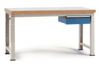 Komplett-Angebot Werkbank PROFI Modell 2, Platte Kunststoff 40 mm 1500 / Lichtgrau RAL 7035