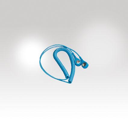 Spiralkabel als Anschluß für Handgelenkband ESD/EPA