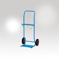 Stahlflaschenkarren 2 x 10 Liter / Vollgummiräder Ø 200 mm