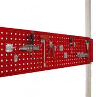 Werkzeug-Lochplatte für Werkbank PROFI Rubinrot RAL 3003 / 2000