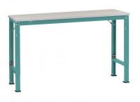 Grundarbeitstisch UNIVERSAL Spezial, PVC 22 mm Wasserblau RAL 5021 / 1000 / 600