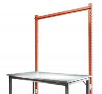 Stahl-Aufbauportal ohne Ausleger mit Querstabilisierungsstrebe Grundeinheit Standard Rotorange RAL 2001 / 1250