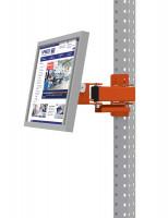 Monitorträger für MULTIPLAN / PROFIPLAN, Doppelgelenk 500 mm 100 / Rotorange RAL 2001