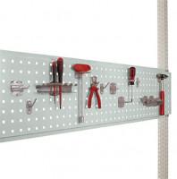 Werkzeug-Lochplatten/Lochblech für Stahl-Aufbauportale Lichtgrau RAL 7035 / 2000