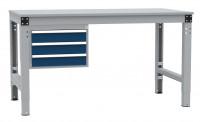 Schubfach-Unterbauten MULTIPLAN, stationär, 3x100 mm 700 / Lichtgrau RAL 7035