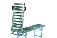 Durchgang für Klein-Rollenbahnen, Stahl 20 x 1 mm nur Scharnier / 300