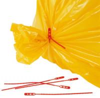 Schnellbinder für Abfallsäcke