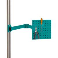 Werkzeugträgerplatten mit Doppelgelenk Schwenkausleger Wasserblau RAL 5021 / 700