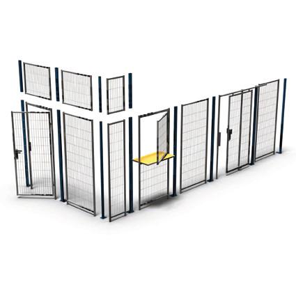 Anfang/-Endpfosten für Trennwand-System Basic