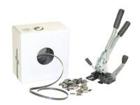 Einfaches Set für Kunststoffband mit 1000 mm Bandlänge, häufige Umreifung 13 / 0,5