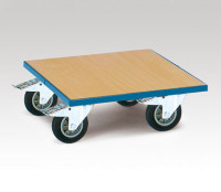 Transportroller, mit Holzladefläche Holz / 500