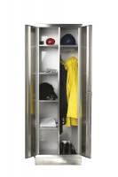 Kleider- und Wäscheschrank aus Edelstahl 800 / 400