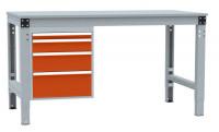 Schubfach-Unterbauten MULTIPLAN, stationär, 1x50, 1x100, 1x150, 1x200 mm Rotorange RAL 2001 / 700