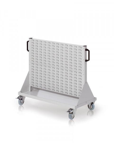 Rollwagen mit Sichtlagerkästen, Einseitig Nutzung, Höhe 890 mm
