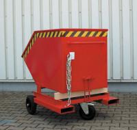 Kippwagen mit Rädern und Einfahrtaschen Feuerrot RAL 3000 / 0,25