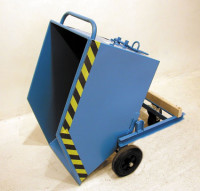 Kippwagen mit Rädern 0,25 / Feuerrot RAL 3000