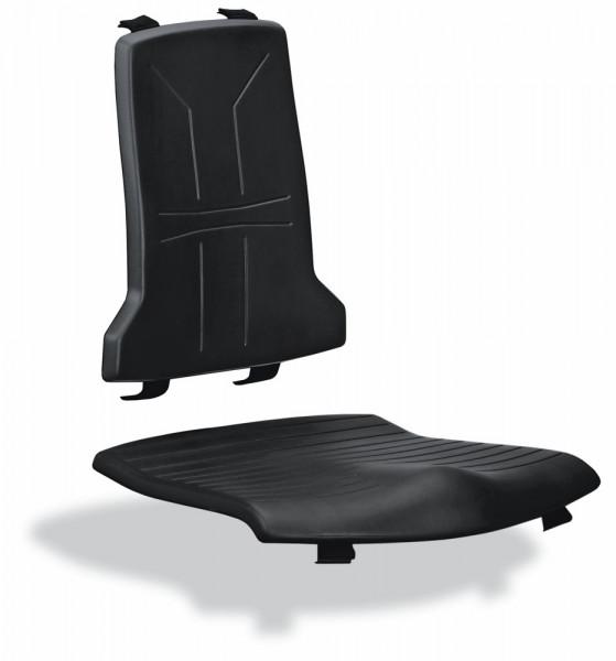 Leitfähiges, schwarzes Sitz- und Rückenpolster aus Integralschaum für EPA-Line