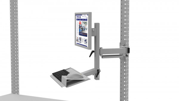 Monitorträger mit Tastaturträger und Mausfläche für MULTIPLAN Arbeitstische
