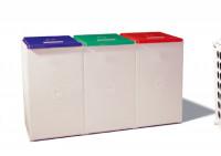 Deckel für Sammelbehälter mit 60 Liter Volumen Rot