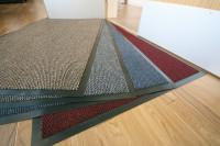 Zweifarbige Teppichmatte, 7 mm 1500 x 900 / Rot